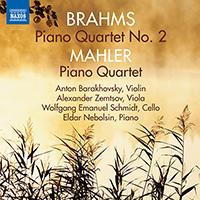 BRAHMS, J.: Piano Quartet No. 2 / MAHLER, G.: Piano Quartet